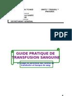 Guide Pratique Transfusion Sanguine