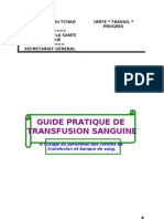 Guide Pratique Transfusion Sanguine