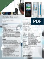Nokia X2 Data Sheet