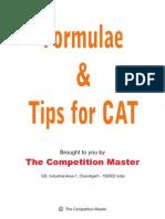Formulae&TipsforCAT