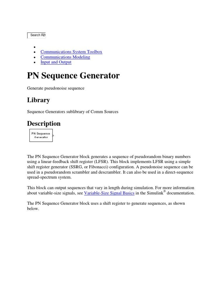 Pn Sequence | Vector Space | Data Type