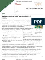 DVD Discs Double as Cheap Diagnostic Kit for HIV