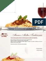 E-book Massas e Molhos