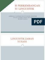 Sejarah Linguistik
