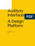 Auditory Interfaces