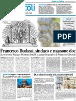 Francesco Budassi, sindaco e massone doc - Il Resto del Carlino dell'8 maggio 2013