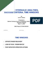 Success Criteria and Time Windows
