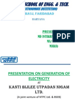 Presentation on Generation of Electricity