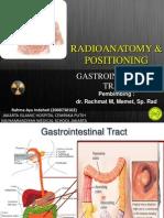 Radioanatomi Positioning GI Tract