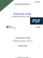 Ministerio de Salud de la Nación - Estadísticas vitales
