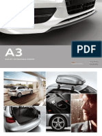 Audi A3 Cabriolet Accessories/Zubehor Catalogue (2013, German)