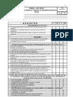 CheckList  NR 32 Segurança e Saúde no Trabalho em Estabelecimentos de Saúde