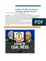Coal Scam Probe Supreme Court