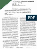 Rotationa and Translational Temperature in Niitrogen Plasma 1977 JTP
