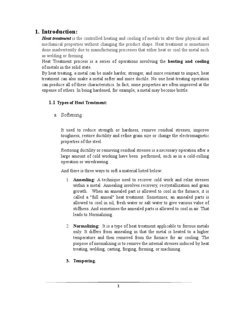 Heat treatment of steel. Types of heat treatment of metals 17