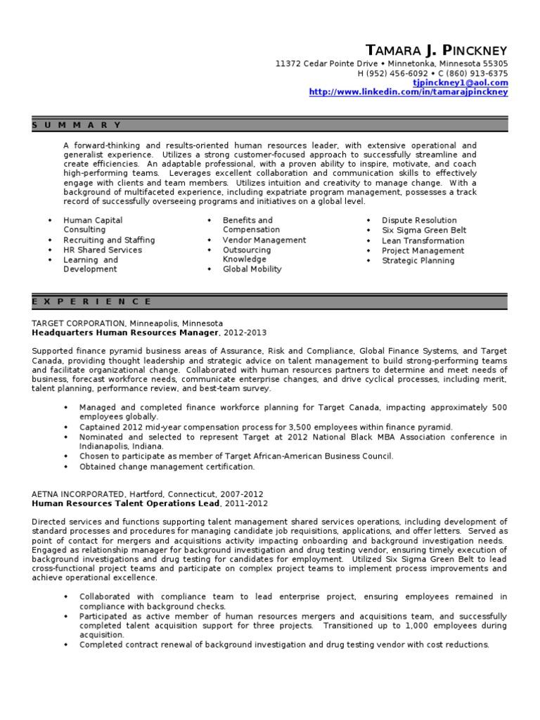 HR Manager Resume | Human Resource Management | Employment
