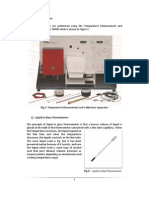 Calibration of the liquid in glass, Gas (vapor) pressure and Bi-metal Devices