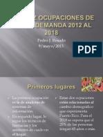 Las Diez Ocupaciones de Mayor Demanda 2012 Al Pedrillo
