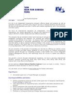 Subsea Pipeline Job Description