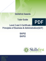 Totor Guide Level 2 and 3 Certificate Principles of Business Administration BAP02 BAP03