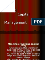 working capital management Finance Ppt