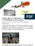 Atlético-MG 4 x 1 São Paulo – Inspirados R10 e Jô humilham tricolor paulista