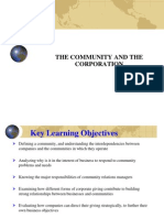 1. Community and Corporation - Current Issues