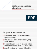 Besar Sampel Untuk Penelitian Kasus Pembanding
