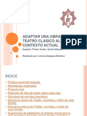 Adaptar Una Obra De Teatro Clásico Al Contexto Ficción Y