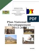 Plan National de Développement 2013-2015, Tchad (Avril 2013)