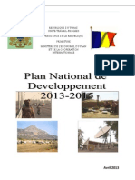 Plan National de Développement 2013-2015, Tchad (Avril 2013)
