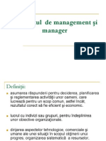 Conceptul de Management Si Manager