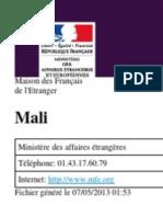 Information sur le Mali