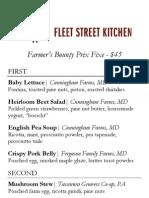 Fleet Street Kitchen Secret Menu