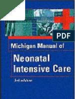 Michigan Manual of Neonatal Intejnsive Care 3rd Ed NB