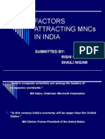 Factors Attracting Mncs in India ppt.