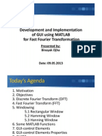 GUI Development using MATLAB for FFT