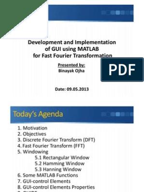 GUI Development using MATLAB for FFT | Discrete Fourier