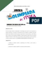 PRIMERAMINIOLIMPIADA DE FÍSICA 2013