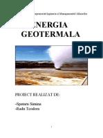 ENergie Geotermala PTUE