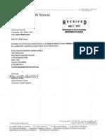 Franciscan-Highline Agreement
