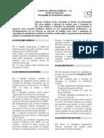 Edital de Seleção - Programa de Residência - CCJ 2013