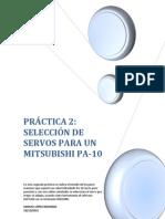 Estudio de los pares máximos que soporta un robot Mitsubishi PA-10