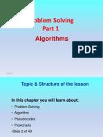 ProblemSolving Part 1 Algorithms and Pseudo Coding