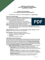 FN302 01-FinAssets&Mkts Revision