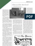 Sobre Educación Musical, por José Miguel Azorín Marco