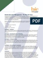 Interim Executive Management - The Next 20 Years