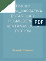 Pozuelo Yvancos_NARRATIVA ESPAÑOLA Y POSMODERNA_ VENTANAS DE LA FICCIÓN
