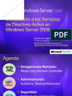 Introduccion a Los Servicios de Directorio Activo en Windows Server 2008