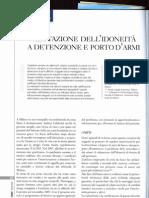 Porto d'armi. Valutazione dell'idoneità a detenzione e porto d'armi. Clerici, Invernizzi, Veneroni, de'Micheli, Rivista del Medico Pratico 2008